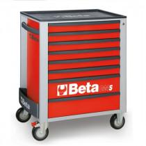 BETA C24S/8-R liikuteltava työkaluvaunu 8:lla laatikolla, punainen