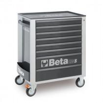 BETA C24S/8-G liikuteltava työkaluvaunu 8:lla laatikolla, harmaa