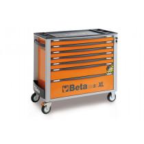 BETA C24SAXL/7-O liikuteltava työkaluvaunu 7:llä laatikolla, leveä malli, anti-tilt, oranssi