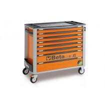 BETA C24SAXL/8-O liikuteltava työkaluvaunu 8:lla laatikolla, leveä malli, anti-tilt, oranssi