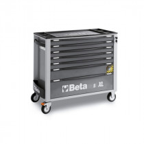 BETA TOOLS C24SAXL/7-G  liikuteltava työkaluvaunu 7:llä laatikolla, leveä malli, anti-tilt