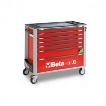 BETA C24SAXL/7-R liikuteltava työkaluvaunu 7:llä laatikolla, leveä malli, anti-tilt, punainen