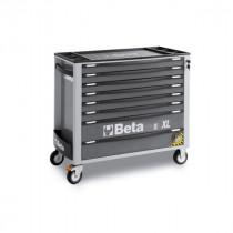 BETA C24SAXL/8-G liikuteltava työkaluvaunu 8:lla laatikolla, leveä malli, anti-tilt, harmaa