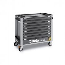BETA TOOLS C24SAXL/9-G  liikuteltava työkaluvaunu 9:llä laatikolla, leveä malli, anti-tilt