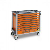 BETA TOOLS C24SAXL/9-O  liikuteltava työkaluvaunu 9:llä laatikolla, leveä malli, anti-tilt