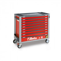 BETA TOOLS C24SAXL/9-R  liikuteltava työkaluvaunu 9:llä laatikolla, leveä malli, anti-tilt