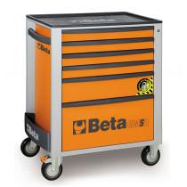 BETA C24SA/6-O liikuteltava työkaluvaunu 6:lla laatikolla, ANTI-TILT, oranssi
