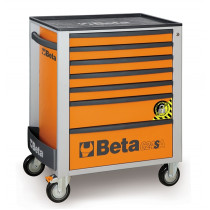 BETA C24SA/7-O liikuteltava työkaluvaunu 7:llä laatikolla, ANTI-TILT, oranssi
