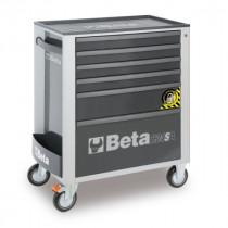 BETA C24SA/6-G liikuteltava työkaluvaunu 6:lla laatikolla, ANTI-TILT, harmaa