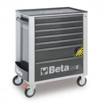 BETA C24SA/7-G liikuteltava työkaluvaunu 7:llä laatikolla, ANTI-TILT, harmaa