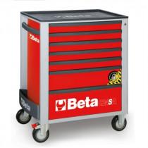 BETA C24SA/7-R liikuteltava työkaluvaunu 7:llä laatikolla, ANTI-TILT, punainen