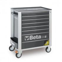 BETA C24SA/8-G liikuteltava työkaluvaunu 8:lla laatikolla, ANTI-TILT, harmaa