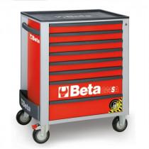 BETA C24SA/8-R liikuteltava työkaluvaunu 8:lla laatikolla, ANTI-TILT, punainen