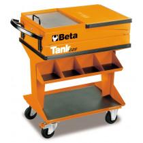 BETA TOOLS C25  Siirreltävä työkaluvaunu avattavalla työtasolla
