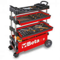 BETA TOOLS C27S-R  kokoontaitettava työkaluvaunu