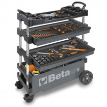BETA TOOLS C27S-G  kokoontaitettava työkaluvaunu