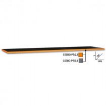 BETA TOOLS C55BO PT/2,8 työtaso, leveys 2850mm C55-sarjan kalusteyhdistelmiin, oranssi reunalista
