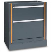 BETA TOOLS C55M2 työtason alle kiinteästi sijoitettava elementti 2:lla laatikolla c55-sarjan kalusteyhdistelmiin