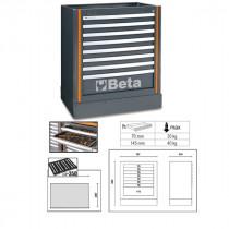 BETA TOOLS C55M8  työtason alle kiinteästi sijoitettava elementti 8:lla laatikolla c55-sarjan kalusteyhdistelmiin