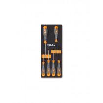 BETA TOOLS M174 ruuvitalttasarja foam paneelissa kannalle TX Torx ® (ITEM 1297TX) sarjassa 6 meisseliä