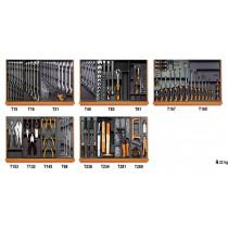 BETA TOOLS 5904VI/2T työkalulajitelmassa 153-osaa lämpömuovatuissa paneeleissa