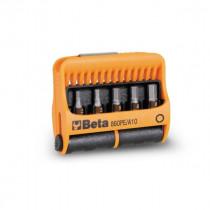 "BETA 860PE/A10 BITS palat pitimessä, 1/4"" kanta. Magneettipidin ja 10 palaa. Koot ristikannat Phillips® PH1-PH2-PH3, Pozidriv® - Supadriv® PZ1-PZ2-PZ3 ja kuusiokolot 2-2,5-3 4-5-6 mm"