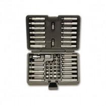 """BETA 867/C52 salkussa 52 BITS palaa 10mm kannalla ja 2 tarviketta. Adapterit 3/8"""" ja 1/2"""" vääntiöille"""
