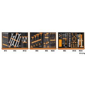 """BETA TOOLS 5904VG/1M  Työkaluvalikoimassa 76 kpl yleistyökaluja foam paneelissa, 1/2"""" vääntiö"""