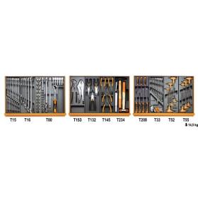 BETA TOOLS 5904VG/2T  työkalulajitelmassa 99-osaa lämpömuovatuissa paneeleissa