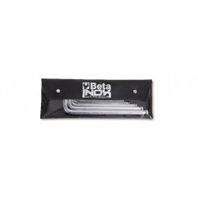 BETA TOOLS 96BPINOX-AS/B8 kuusiokoloavaimet taskussa, 8 kpl ruostumaton teräs RST  TUUMAKOKOISET