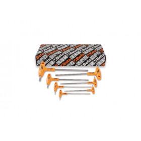 BETA TOOLS 96TINOX-AS/S7 kuusiokoloavaimet, sarjassa 7 avainta  kahvalla, ruostumaton teräs RST,  TUUMAKOKOISET