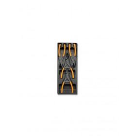 BETA TOOLS T145 segerpihdit 4 kpl lämpömuovatussa paneelissa