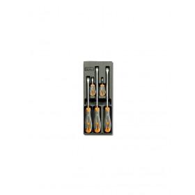 BETA TOOLS T171  ruuvitalttasarja BetaMax suorauraruuveille, 5-osaa lämpömuovatussa paneelissa