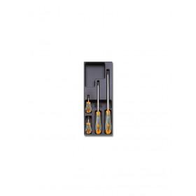 BETA T173 ruuvitalttasarja BETAMax ristiuraruuveille Phillips®, 4-osaa lämpömuovatussa paneelissa