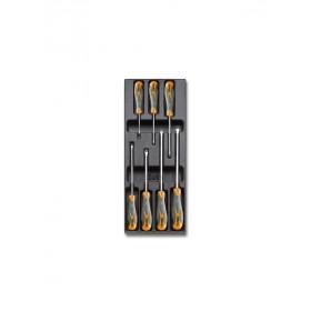 BETA TOOLS T170 ruuvitalttasarja BetaMax 7-osaa lämpömuovatussa paneelissa, suoraura