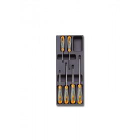 BETA TOOLS T172 ruuvitalttasarja BetaMax ristiuraruuveille Phillips®, 6-osaa lämpömuovatussa paneelissa