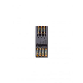 BETA TOOLS T175 ruuvitalttasarja BetaMax koloruuveille Torx®, 7-osaa lämpömuovatussa paneelissa