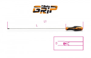 Beta 1262L 6X400 ristiuraruuvitaltta, pitkä, kannalle Phillips®